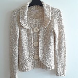 Sweaters - Women's Cream Knitted Sweater